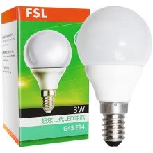 -[Jingdong Supermarket] Foshan Lighting (FSL) LED Bulb Energy-saving light bulb 3W small mouth E14 day spokes 6500K 2 on JD