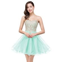 875065909-Short Beaded Homecoming Cocktail Dress Prom Evening Party Pageant Gown Bridesmaid Dresses on JD