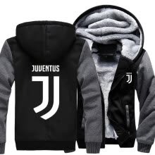 875061442-2018 New USA SIZE Men Winter Autumn Hoodies Juventus JT pattern Fleece Coat Baseball Uniform Sportswear Jacket wool on JD