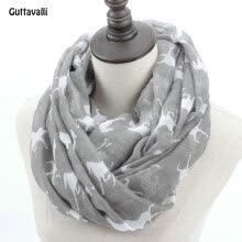 875062531-Guttavalli Fashion Woman Solid Horse Print Loop Shawl Women Winter Stripes Ring Scarves Female Autumn Horses Animal Infinity Scarf on JD