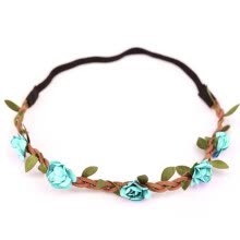 875062454-1x Boho Style Floral Flower Women Girls Hairband Headband Wedding Festival Party   LIGHT BLUE on JD