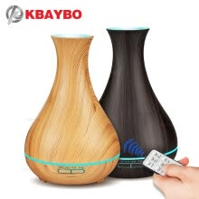 -400ml Electric Aroma Essential Oil Diffuser wood Ultrasonic air humidifier cool mist maker fogger with 7 color LED night light on JD
