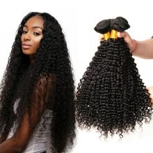 -Yavida Hair 7A Peruvian Virgin Hair Kinky Curly 4 Bundles Unprocessed Virgin Peruvian Human Hair No Tangle Peruvian Kinky Curly Ha on JD