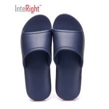-INTERIGHT Japanese-style bathroom light and soft bottom home sandals and slippers women's quiet blue 39-40 IN1561 on JD