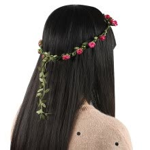 875062531-Girls Boho Style Garland Wedding Hairband Mix Color Floral Flower HeadBand on JD