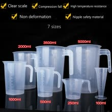 kitchen-scales-100/ 250/ 500/ 1000/ 2000/ 3500/ 5000ml thickened plastic measuring scale cup on JD