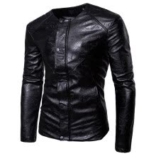 -New Arrival Brand Men's Fashion Leather Suit Suit Casual Leather Jacket Men's Business Suits on JD