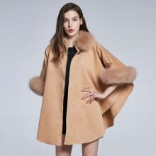 fur-Women's Autumn Winter Shawl Fox Hair Collar Cashmere Design Real Fur Jacket Furry Jacket Solid Color Party Warm 2018 New on JD