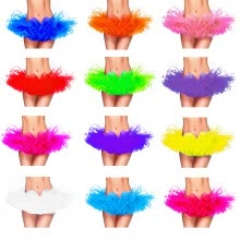 -Buenos Ninos 12Colors Fancy Outfit Costume Tulle Tutu Skirt Lady's TUTU Mini Skirt Adult Petticoat on JD