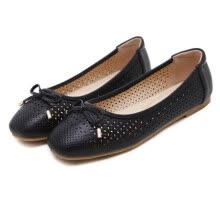 -women ballet flat shoes dancing party work office career slip on round toe loafer bowtie breathable comfy on JD