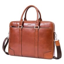 -Aokang men's briefcase fashion trend youth handbag shoulder bag business men bag 87352201221 vintage brown on JD