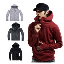 sweatshirts-Men Fashion Coat Jacket  Long Sleeve Hoodies slim fit Sweater zipper Outwear on JD