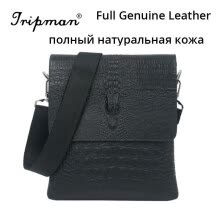 -New Arrival Hot Sale Leisure Man Bag Black Crocodile Pattern Crossbody Real Cowhide 100% Full Genuine Leather Men Messenger Bags Sales on JD