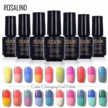 87503-ROSALIND Gel 1S 7ML Temperature changing Chameleon Gel Nail Polish Top Base Coat Needed poly gel Semi Permanent primer for nails on JD