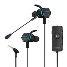 -Siberia (XIBERIA) MG-2PRO headphone in-ear vibration 3D surround sound game headset computer phone music game earplugs with wheat black on JD