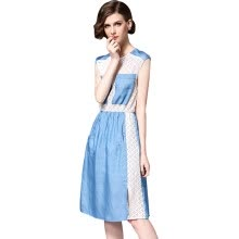 -BURDULLY Women Lace Patchwork Dress Fashions 2018 New Summer Casual Sleeveless Vest Dress Cotton Female Dresses Large Sizes on JD