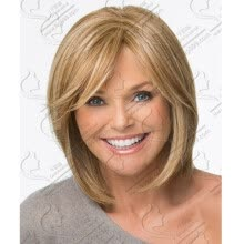 -QianBaiHui Short straight Wigs for white Women - light brown wigs Synthetic Hair Wigs Natural Fashion Full  Wig + Wig Cap on JD