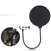 -Double Layer Studio Microphone Flexible Wind Screen Mask Mic Pop Filter Shield For Speaking Recording Accessories on JD