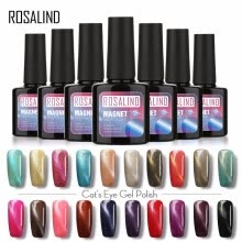 -ROSALIND Gel 1S 7ML Color Diamond Series Glitter Nail Gel Polish UV LED Soak-Off Nail Art Base Top Coat Needed gel lacquer on JD