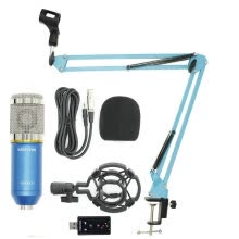 -Professional BM 800 bm800 Condenser Sound Recording Microphone with Shock Mount for Radio Braodcasting Singing on JD