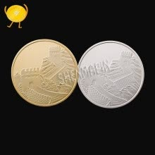 badges-China Great Wall commemorative coins China culture memorial museum coin art collection gifts on JD