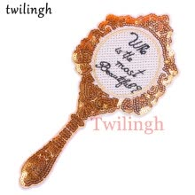-twilingh Patches Sewing Iron-On Accessories Patchworks Magic Mirror Embroidered Sequined Patches For Clothing on JD