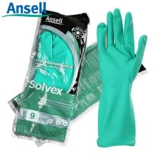 -Ansell (ansell) nitrile anti-chemical gloves chemical treatment acid and alkali resistant solvent anti-skid oil industrial labor protection waterproof gloves 37-176 8 yards on JD