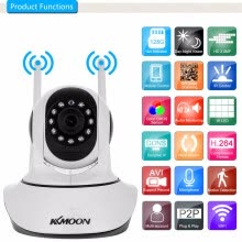 -KKmoon  1080P Wireless WIFI Pan Tilt HD IP Camera 2.0MP Support PTZ Two-way Audio Night Vision with Phone APP Control on JD