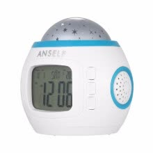 8750202-Music Starry Star Sky Projection Alarm Clock Calendar Thermometer H4962 Watch on JD