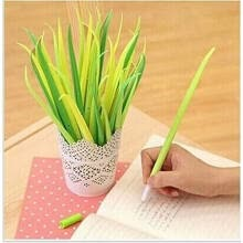 -Yixiukeji 1 Piece Cute Grass Refill Gel Ink Rollerball Pens Gifts Prizes For School Girls Students on JD
