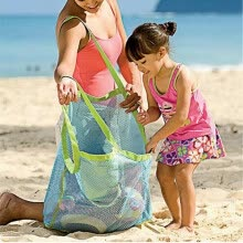 tool-organizers-Portable Mesh Sand Away Bag Dredging Pouch Children's Carrying Toys Beach Bag on JD