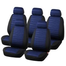 -15PCS Van Seat Covers Airbag Compatible, 5MM Foam Universal 5x Seater Seats Checkered Blue Interior Accessories on JD