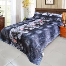 -4x Queen/King Size 3D Flowers Bedding Set Quilt Cover Bedspread 2 Pillowcases on JD