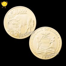 -Zambia. African wildlife commemorative coin with diamond buffalo gold coin art collection non - currency coin home decoration on JD