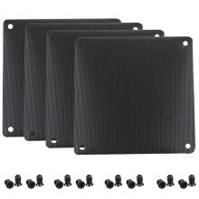 -GELID 12cm fan PVC dustproof net black (4 packs / easy to clean / send screws / GC121B) on JD
