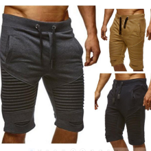 shorts-2018 Fashion Men's Shorts Summer Casual Sport Fashion Shorts for Men Knee Pleated Lac Up Waist Jogger Pants on JD