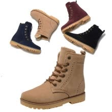 875062322-Men Warm Ankle Boots Knight Brogue High Top Carving Nubuck Martin Snow Flat Shoe on JD