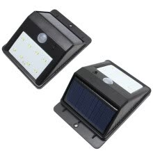 -Triangle 8 LED Solar Power Motion Sensor Garden Lamp Outdoor Waterproof Light on JD