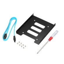 875061446-SSD 2.5 Inch SSD HDD To 3.5 Inch Metal Mounting Adapter Bracket Dock for PC SSD with SATA 3.0 Cable & Screwdriver on JD