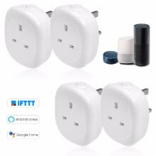 87502-Wifi Smart Socket Plug with Big On/Off Switch Button Smart Alexa Outlet Support APP Remote Control Timing Function Voice Control f on JD