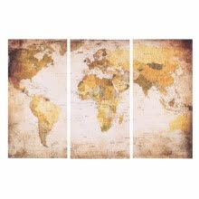 -35 * 70cm HD Printed 3 Panel Frameless World Map Canvas Painting Wall Art Pictures Decor for Hallway Living Room Bedroom on JD