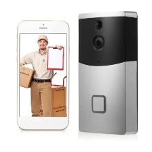 8750214-HD 720P WIFI Visual Intercom Door Phone Wireless Video Doorbell With PIR Motion Detector Smart Video Doorphone Support for Android on JD