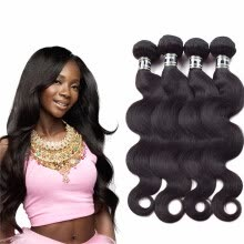 -Amazing Star Brazilian Virgin Hair Body Wave Bundles Human Hair Extensions Body Wave Brazilian Hair Weave 4 Bundles on JD