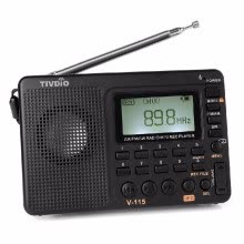 875072520-5x FM/AM/SW World Band TIVIDO V-115 Size Mini Radio MP3 Player &Sleep Timer B4C1 on JD