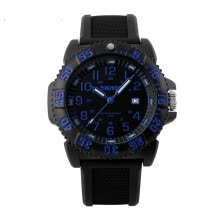 -SKMEI 1078 Men Date PU&Rubber Waterproof 50 Ratatable Compass Noctilucent Sports Wrist Watch on JD