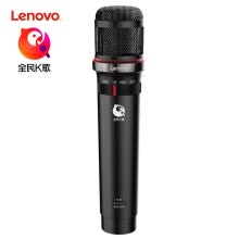 -Lenovo (Lenovo) UM20S national K song custom microphone Apple Android fast hand vibrato anchor dedicated USB microphone computer shouting wheat live equipment digital version of the meteorite black on JD