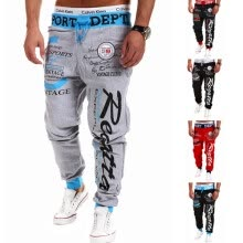 sweatpants-CT&HF Men Letters Printing Sweatpants Handsome Personality Hot Selling Trousers Spring Cotton Trousers Slacks on JD