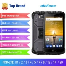 -Ulefone Armor 2S IP68 Waterproof Smartphone 5.0'' MT6737T Quad Core 2GB+16GB 13MP Android 7.0 NFC 4G LTE 2 SIM Card Mobile Phone on JD