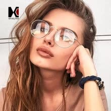 -SHAUNA Super Light-weight Vintage Round Frame Original Clear Lens Glasses Retro Circling Frame Women Eyeglasses Men Oculos on JD