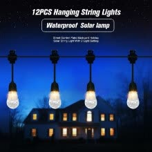 875072182-Outdoor Waterproof  12PCS LED Solar Hanging String Lights Street Garden Holiday String Light on JD